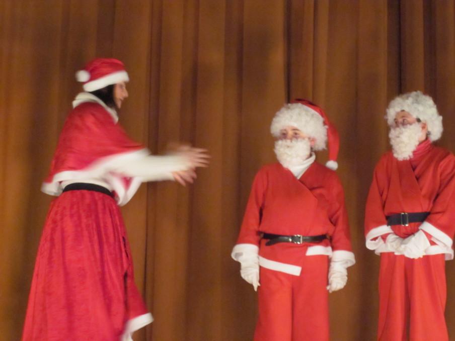 au Pays de Noël - les doublures de Père Noël